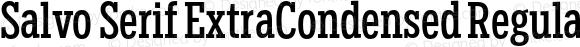 Salvo Serif ExtraCondensed Regular