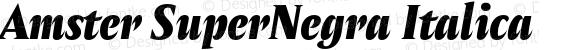 Amster SuperNegra Italica Version 1.000;PS 001.000;hotconv 1.0.70;makeotf.lib2.5.58329