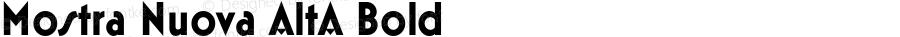 Mostra Nuova AltA Bold Version 1.005