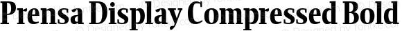 Prensa Display Compressed Bold