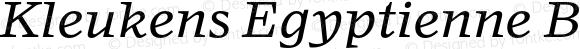 Kleukens Egyptienne Book Italic