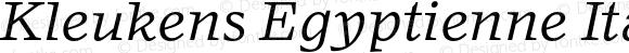 Kleukens Egyptienne Italic