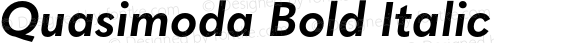 Quasimoda Bold Italic