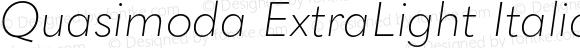 Quasimoda ExtraLight Italic