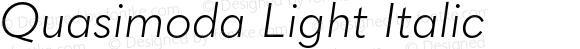Quasimoda Light Italic