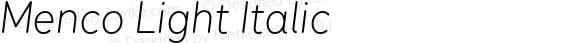 Menco Light Italic