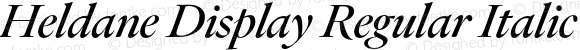 Heldane Display Regular Italic