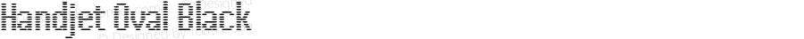 Handjet Oval Black Version 1.000; ttfautohint (v1.8)