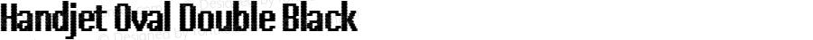 Handjet Oval Double Black Version 1.000; ttfautohint (v1.8)