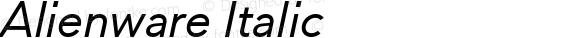 Alienware Italic