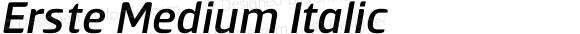 Erste Medium Italic
