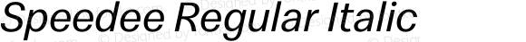 Speedee Regular Italic
