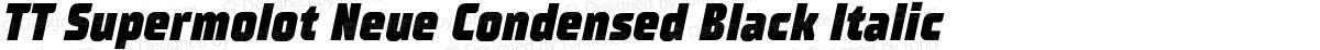 TT Supermolot Neue Condensed Black Italic
