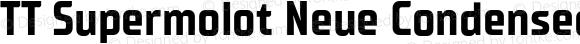 TT Supermolot Neue Condensed Bold