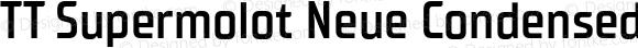 TT Supermolot Neue Condensed DemiBold