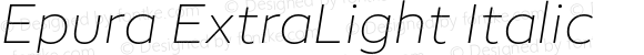 Epura ExtraLight Italic