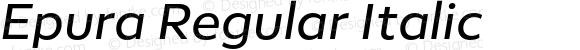 Epura Regular Italic