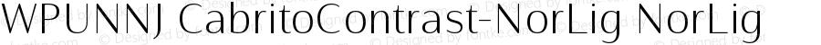 WPUNNJ+CabritoContrast-NorLig NorLig Version 1.0