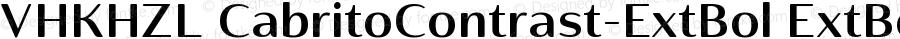 VHKHZL+CabritoContrast-ExtBol ExtBol Version 1.0