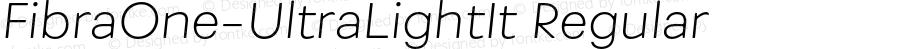 FibraOne-UltraLightIt Regular Version 1.000