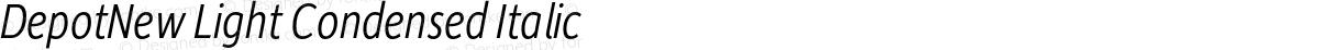 DepotNew Light Condensed Italic