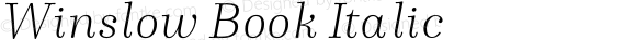 Winslow Book Italic
