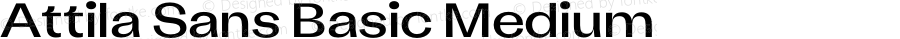 Attila Sans Basic Medium Version 1.000