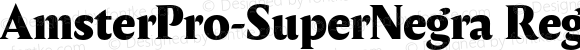 AmsterPro-SuperNegra Regular Version 1.000;PS 001.000;hotconv 1.0.70;makeotf.lib2.5.58329;com.myfonts.easy.pampatype.amster.pro-super-negra.wfkit2.version.4mQH