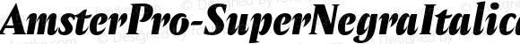 AmsterPro-SuperNegraItalica Italic Version 1.000;PS 001.000;hotconv 1.0.70;makeotf.lib2.5.58329;com.myfonts.easy.pampatype.amster.pro-super-negra-italica.wfkit2.version.4mQJ