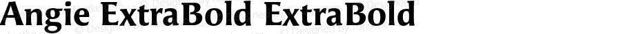 Angie ExtraBold ExtraBold Version 7.504