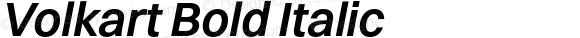 Volkart Bold Italic