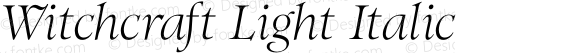 Witchcraft Light Italic