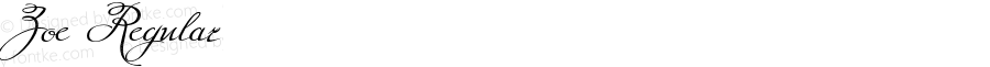 Zoe Regular Version 1.00