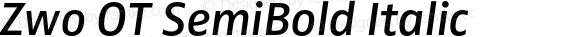 Zwo OT SemiBold Italic Version 7.504