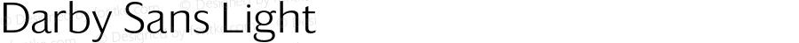 Darby Sans Light Version 1.5 2015