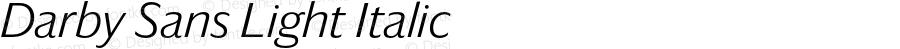 Darby Sans Light Italic Version 1.5 2015