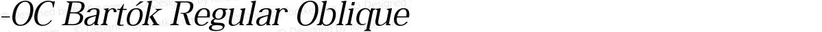 -OC Bartók Regular Oblique