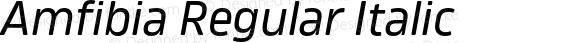 Amfibia Regular Italic