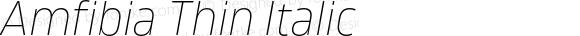 Amfibia Thin Italic