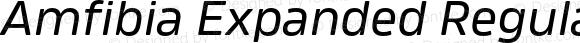Amfibia Expanded Regular Italic