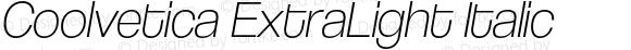 Coolvetica ExtraLight Italic