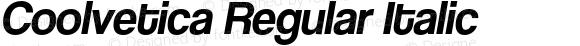 Coolvetica Regular Italic