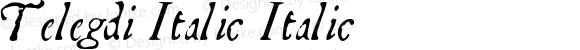 Telegdi Italic Italic Macromedia Fontographer 4.1.3 9/27/01
