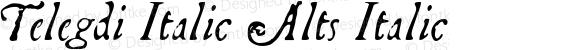 Telegdi Italic Alts Italic Macromedia Fontographer 4.1.3 9/27/01