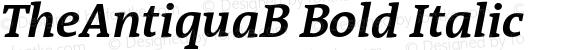 TheAntiquaB Bold Italic 001.000