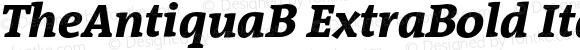 TheAntiquaB ExtraBold Italic 001.000