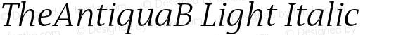 TheAntiquaB Light Italic 001.000