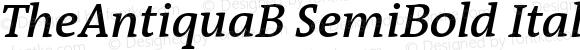 TheAntiquaB SemiBold Italic 001.000