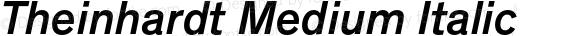 Theinhardt Medium Italic Version 1.000