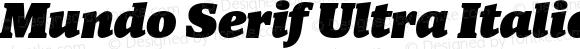 Mundo Serif Ultra Italic